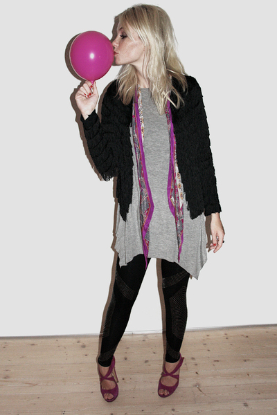 Kate Moss for Topshop jacket - Topshop leggings - Nicholas Kirkwood shoes