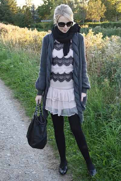 Topshop dress - H&M jacket