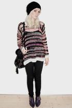 H&M sweater - underground england boots - Topshop accessories
