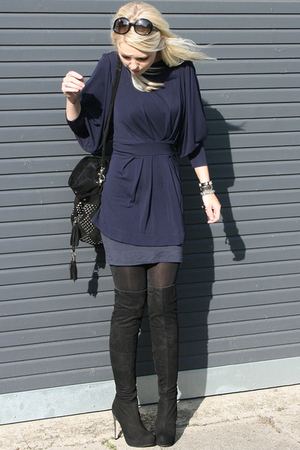 Topshop blouse - Topshop boots - Topshop accessories - Chanel sunglasses