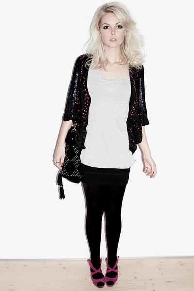 Topshop jacket - Zara t-shirt - Nicholas Kirkwood shoes - Topshop accessories