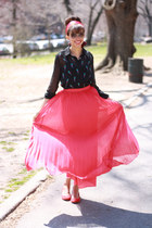 Shabby Apple skirt - JCrew flats