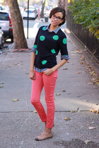 JCrew sweater - Urban Outfitters jeans - chambray JCrew shirt - J Crew flats