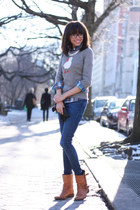 J Crew sweater - Zara boots - Forever 21 jeans - J Crew shirt