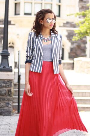 H&M jacket - American Apparel shirt - Shabby Apple skirt