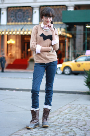 JCrew sweater - LL Bean boots