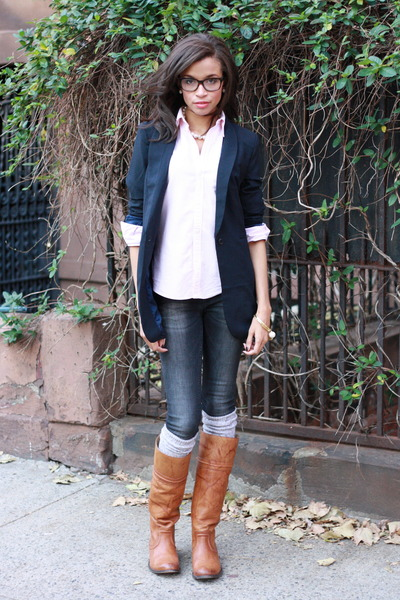 Tobi blazer - Frye boots - Zara jeans - Ralph Lauren shirt