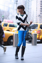 Tobi shirt - Hunter boots - J Crew jeans