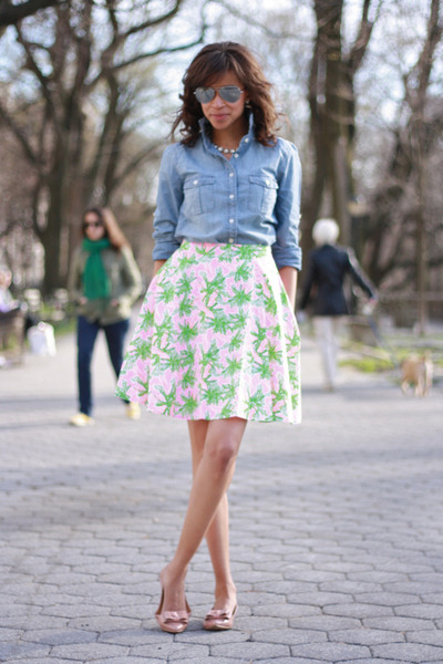 J-crew-shirt-j-crew-flats-lilly-pulitzer-skirt