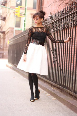 H&M skirt - asos dress - kate spade flats