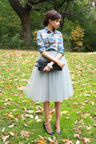 tulle alexandra grecco skirt - White House Black Market bag
