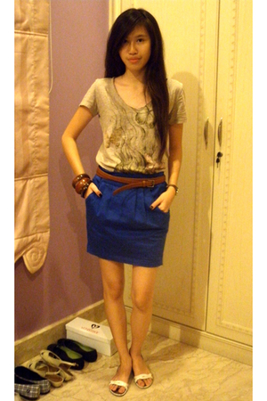 Zara shirt - Zara skirt - Zara belt - Charles & Keith shoes - Forever21 accessor