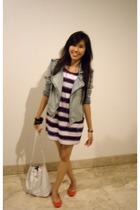 pull&bear jacket - Zara dress - Forever21 bracelet - Zara shoes