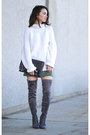 Charcoal-gray-forever-21-boots-white-thrifted-liz-claiborne-sweater