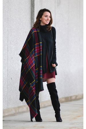 brick red blanket scarf asos scarf - black olsenboye boots