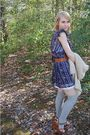 Blue-forever-21-dress-white-charlotte-russe-dress-silver-target-socks-brow