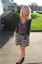 Forever 21 sweater - random shirt - Forever 21 skirt - simply vera shoes