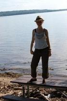 Charlotte Russe hat - Forever 21 DIYd top - Charlotte Russe pants - Keds shoes
