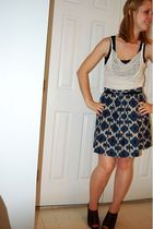 DIY top - forever 21 top - Michael Kors skirt - Target belt - Target shoes