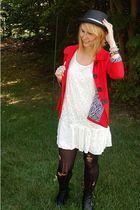 Target hat - Marshalls jacket - forever 21 dress - Random DIY tights - Steve Mad