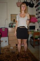 abercrombie and fitch top - forever 21 belt - H&M skirt - Dolce Vita shoes