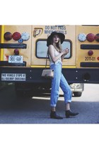 hat worth & worth hat - Modern Vice boots - boyfriend jeans Levis jeans