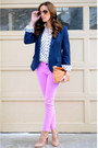 Jcrew-jeans-navy-boyfriend-forever-21-blazer-anthropologie-bag