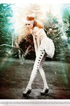 roberto cavalli dress - John Galliano shoes - Emilio Cavalini stockings - Mack D