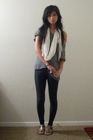 H&M scarf - Rogan for Target t-shirt - American Apparel pants - Nine West shoes