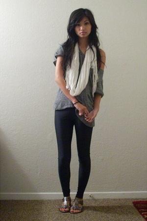 H&M scarf - Rogan for Target t-shirt - American Apparel pants - Nine West shoes