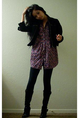 DKNY jacket - Levis shirt - f21 tights - BP shoes