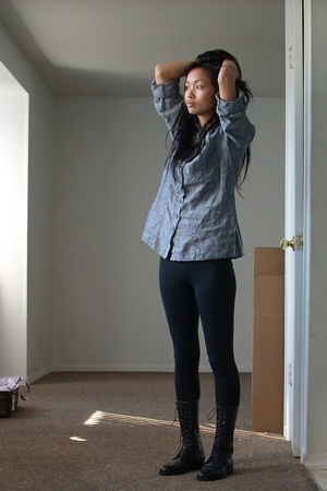shirt - f21 leggings - vintage boots