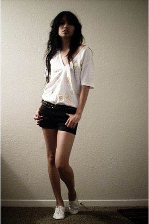 United Rockers shirt - forever 21 belt - For Me shorts - Penny 3 Kenny shoes