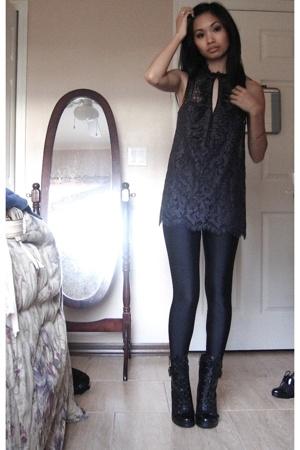 Diane Von Furstenberg blouse - American Apparel pants - Guess boots