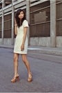 Beige-french-connection-dress-brown-jeffrey-campbell-shoes
