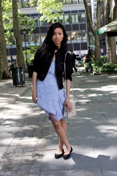 DKNY jacket - tommy bahama dress - vintage purse - Diane Von Furstenberg shoes