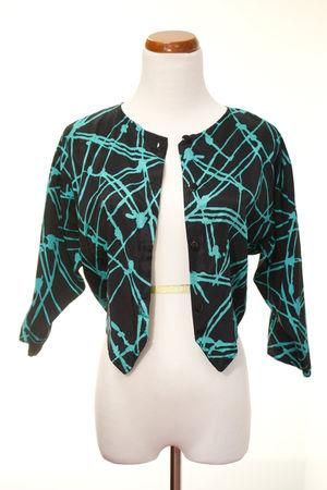 black thrifted jacket
