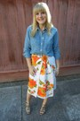 J-crew-shirt-simply-vera-wang-sandals-vintage-skirt