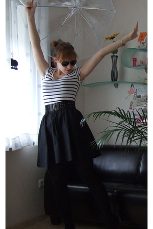 H&M skirt - Manguun tights - H&M shirt - Zara sunglasses - H&M accessories