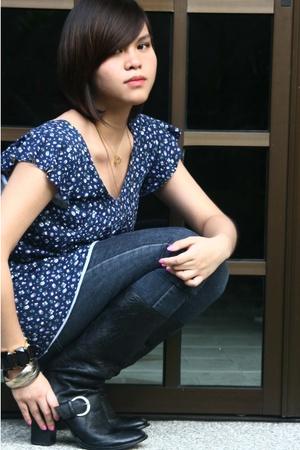 alloy blouse - Linea Italia shoes - Forever21 bracelet - H&M bracelet - Tiffany