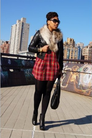 H&M scarf - Lulu Bravo boots - Walter dress - andrew marc jacket