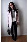 Light-pink-pastel-rickis-coat-black-skinny-guess-jeans