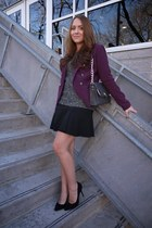 Smart Set sweater - Forever 21 blazer - Smart Set bag - Smart Set skirt