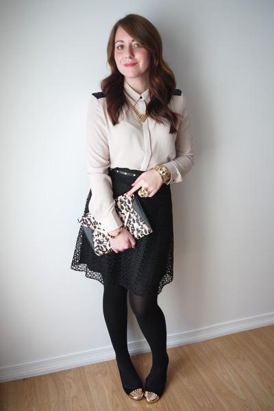 studded Forever21 belt - leopard Ardene bag - embellished Forever21 blouse