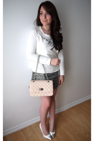 Express bag - H&M skirt - cap toe JC Penney pumps