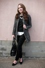 Forever-21-coat-justfab-bag-black-velvet-floral-maurices-pants