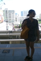 dress - cotton on shorts - new look shoes - longchamp purse - CLN purse - Rustan