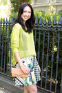 Chartreuse-tibi-sweater-light-orange-rebecca-minkoff-wallet