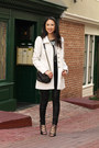 White-francescas-collections-coat-black-kate-spade-bag-black-zara-heels