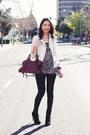 Black-sam-edelman-boots-white-zara-jacket-magenta-balenciaga-bag